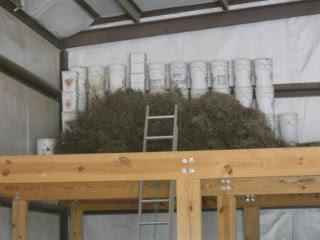 Again, Wheat Sheaves in Barn Loft