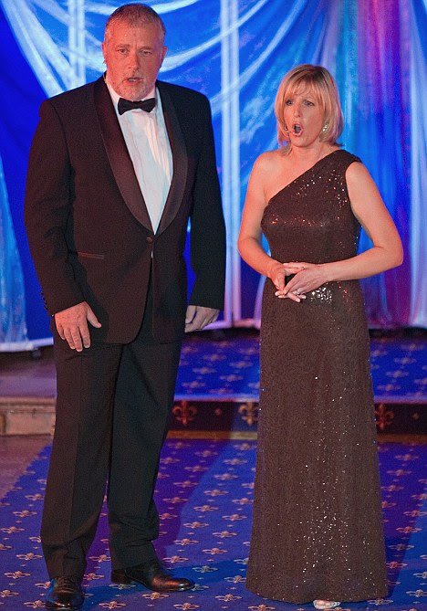 Marriage: Canon Andrew Clitherow and Nicola Howard, now his wife in September 2009 singing at St Cuthberts Gala