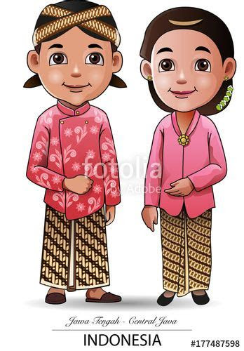 vector vector illustration javanese traditional clothing