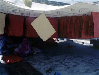 Drying - paper is hung dry in shade.