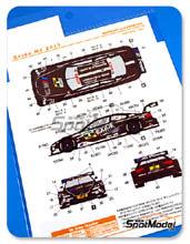 Calcas 1/24 Shunko Models - BMW M3 Exide - Nº 8 - Hand - DTM 2013 para kits de Revell REV07178 y REV07082