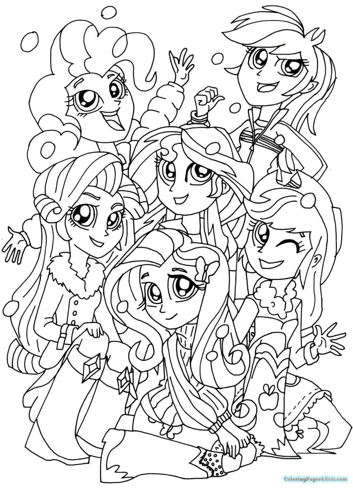 Coloring Pages My Little Pony Equestria At Getdrawingscom Free
