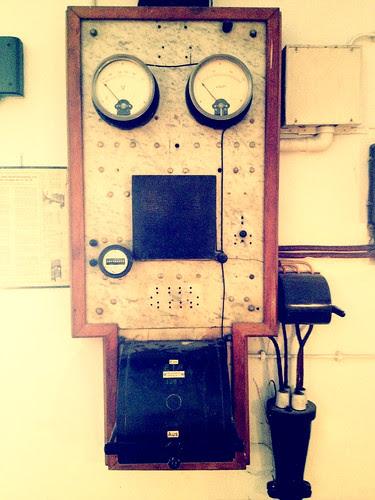 Schaltpult in der alten Wiede Fabrik
