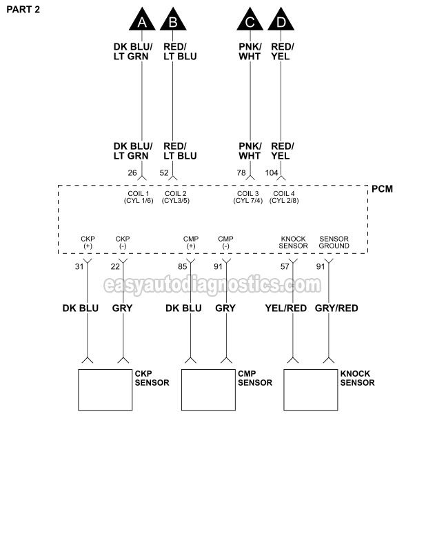 Ignition System Wiring Diagram (1997-1999 4.6L Ford F150 ...