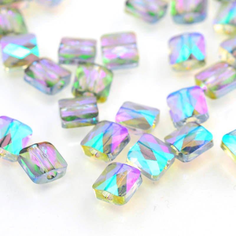 27750530046007 Swarovski Bead - 6 mm Mini-Square (5053) - Crystal Paradise Shine (1)