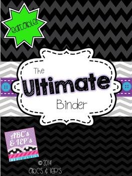 The Ultimate Binder ~ Editable!