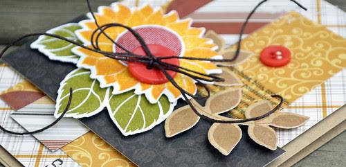 sunflower surprise card closeup