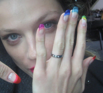 sophy robson rainbow nails Whats On Your Nails? with SeoulDiva Heather Park