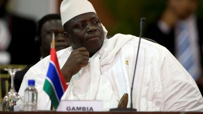 Mr Jammeh has called for new elections to be held in Gambia