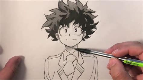 drawing deku boku  hero academia youtube