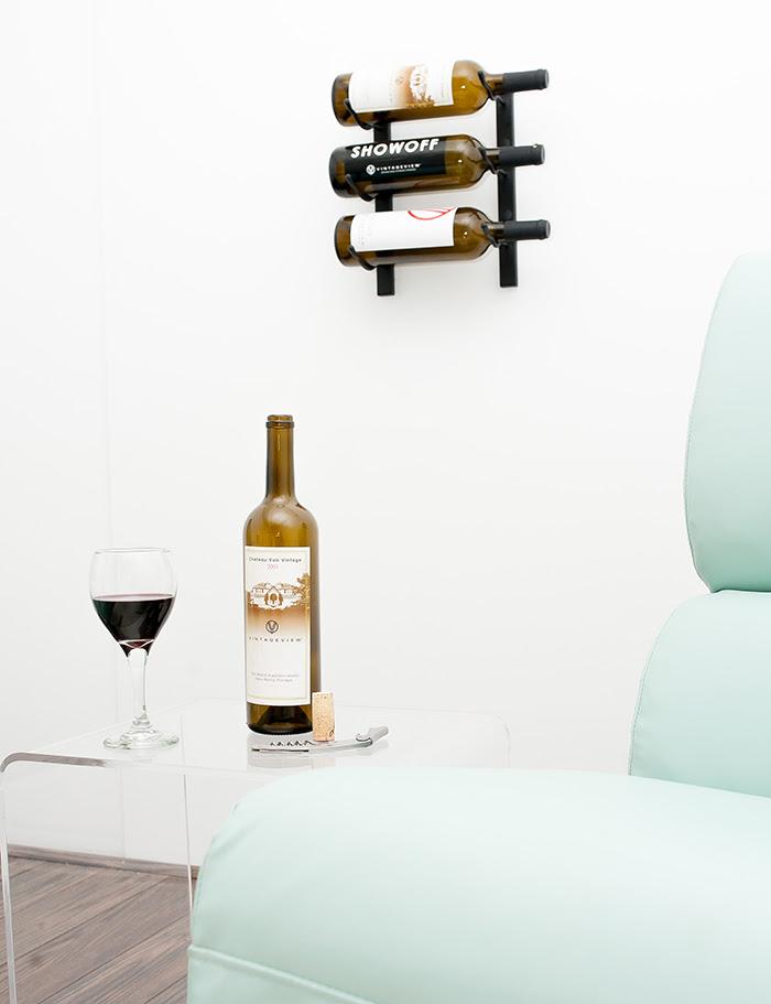 1 Ft Wall Series Metal Wine Rack 3 To 9 Bottles Vintageview