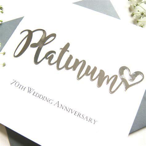 Platinum 70th Wedding Anniversary Card   Shop Online
