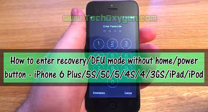 How to enter recovery mode in iPhone without home power button