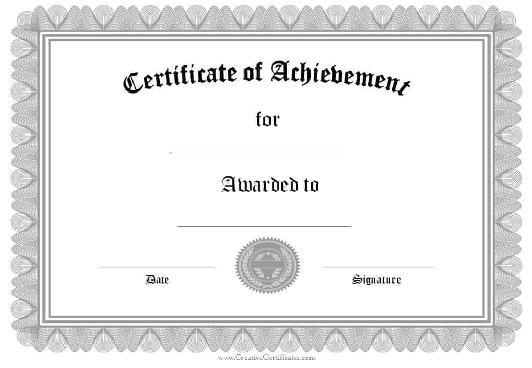 Formal Award Certificate Templates