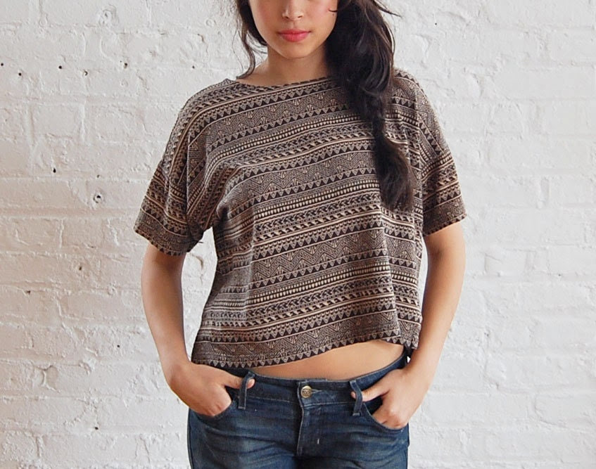 tribal crop top (s/m)
