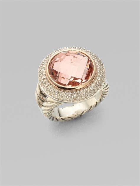 David Yurman Morganite Diamonds Sterling Silver 18k Rose