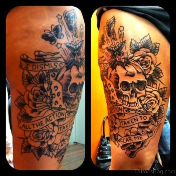 97 Best Skull Tattoos On Thigh