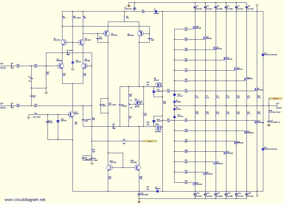 Schema 1000 Watt Audio Amplifier Circuit Diagrams Hd Quality Casediagram Kinggo Fr