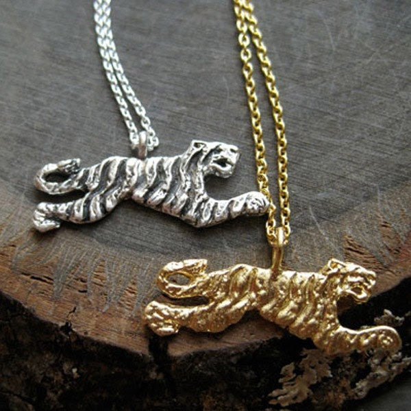 Tiger Necklace Sterling Silver