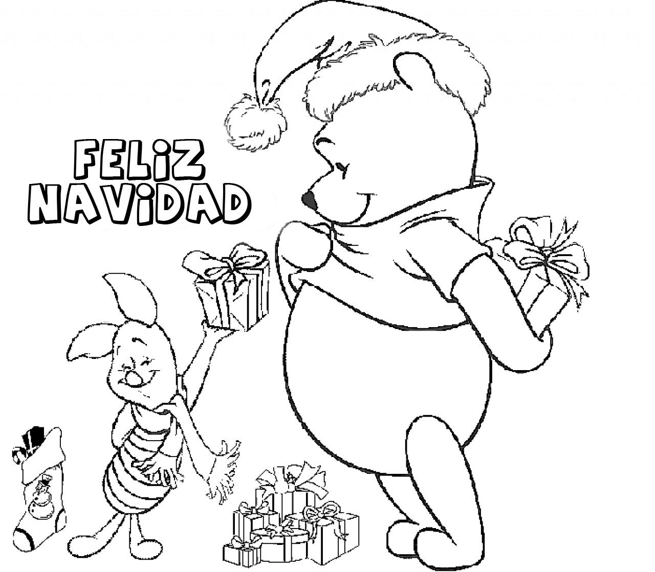 Dibujos de Feliz Navidad para colorear e imprimir, Im\u00e1genes Feliz Navidad