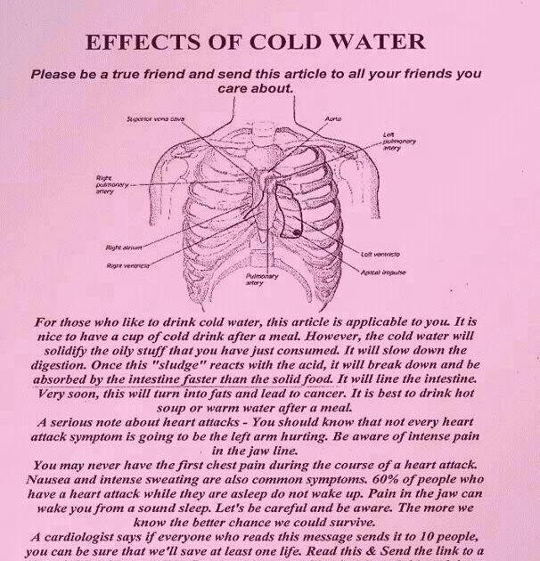 Drinking Cold Water Bad For Cancer