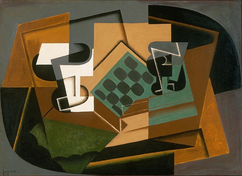 File:Juan Gris - Chessboard, Glass, and Dish.jpg