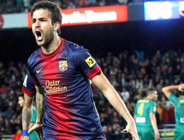 Fabregas gol Barcelona Levante (Foto: Reuters)