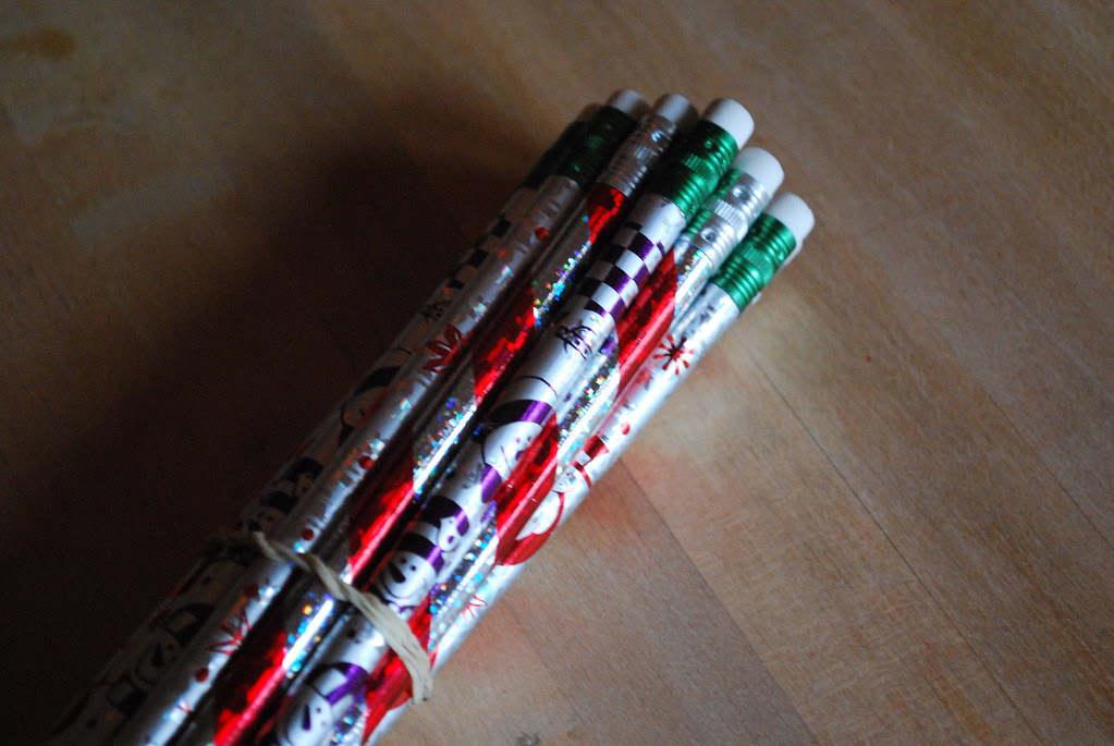 pencils from santa