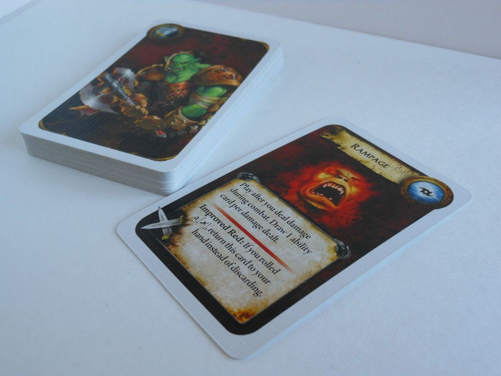 World of Warcraft: The Adventure Game action cards