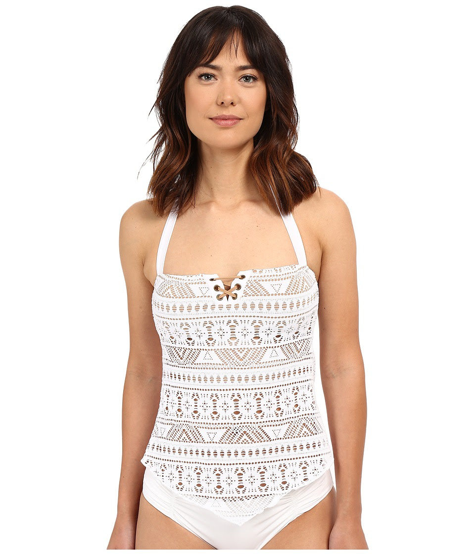 BECCA by Rebecca Virtue - La Boheme Tankini Top (White) Women's Swimwear