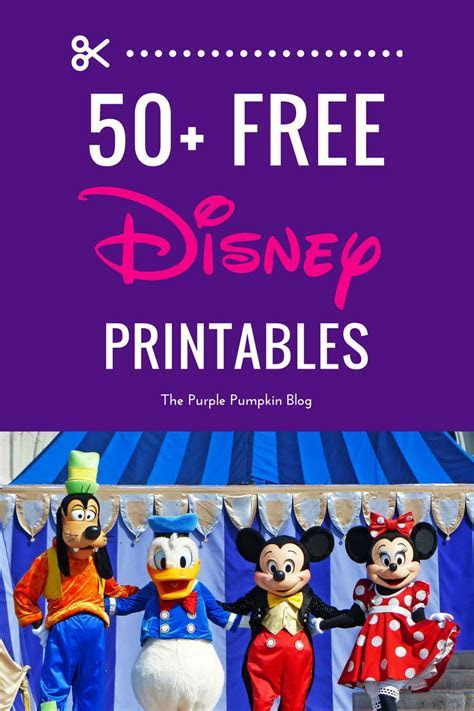 Free Disney Printables » The Purple Pumpkin Blog