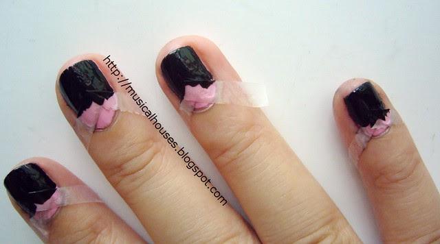 reverse chevron manicure tutorial 3