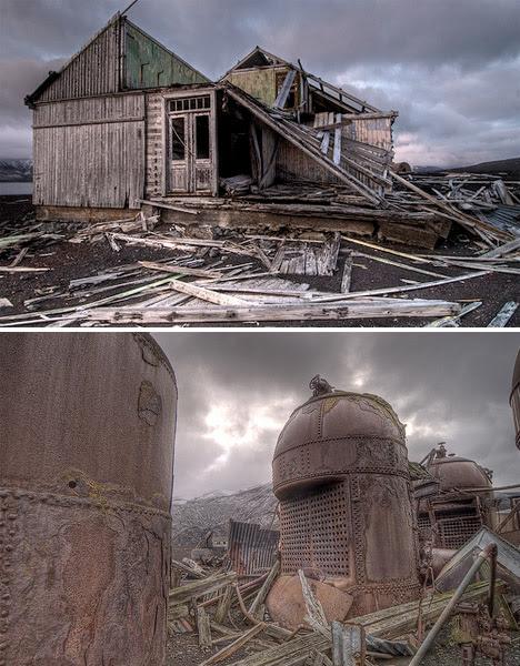 Abandoned Anatarctica Deception Island Whalers Bay 1