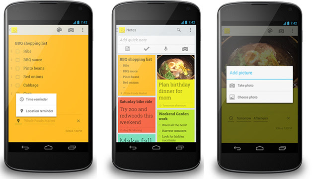 Google Keep Updates with In-Note Photos, Time and Location Reminders