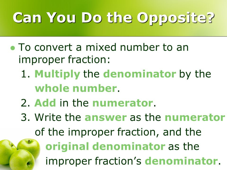 14.1 As A Fraction