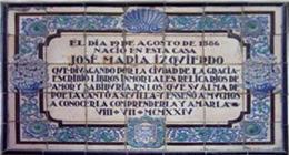 Imagen de Placa: Nace José María Izquierdo