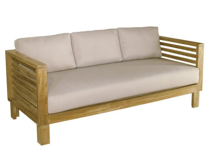 SAINT TROPEZ 3 seater garden sofa by Il Giardino di Legno