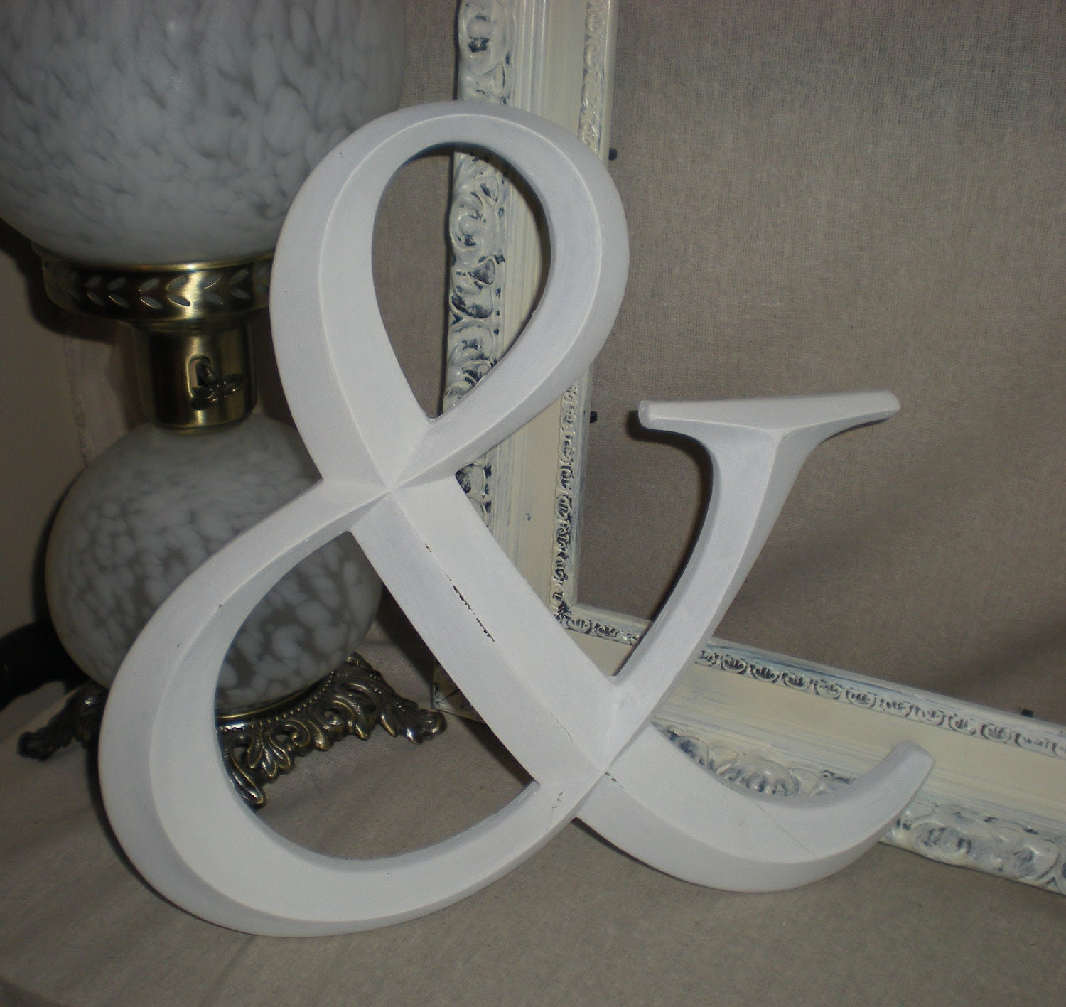 White AmpersandAND SignAlphabet Letters AW by KellyKustomKreations