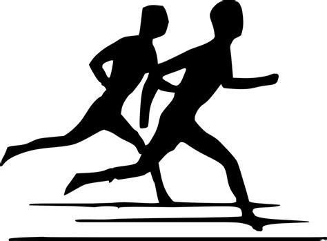 gambar vektor gratis berjalan berlari jogging gambar