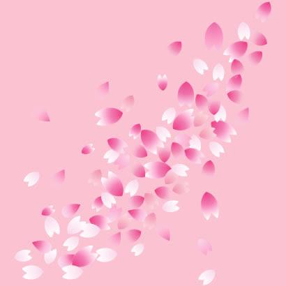桜の花びら桜吹雪のイラストaieps ベクタークラブイラストレーター