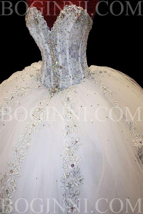 WHITE AB CRYSTAL LACE CORSET SWAROVSKI WEDDING DRESS on