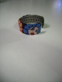 Polymer Cane Face Bracelet