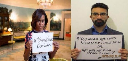 Εννοείτε αυτά που σκοτώθηκαν από τα βομβαρδιστικά του άντρα σας ή από αυτά που χρηματοδοτεί το Ισραήλ για να σκοτώνει;