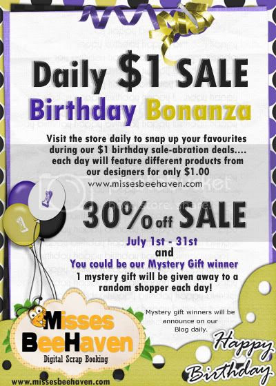 $1 Birthday Sale at Misses BeeHaven