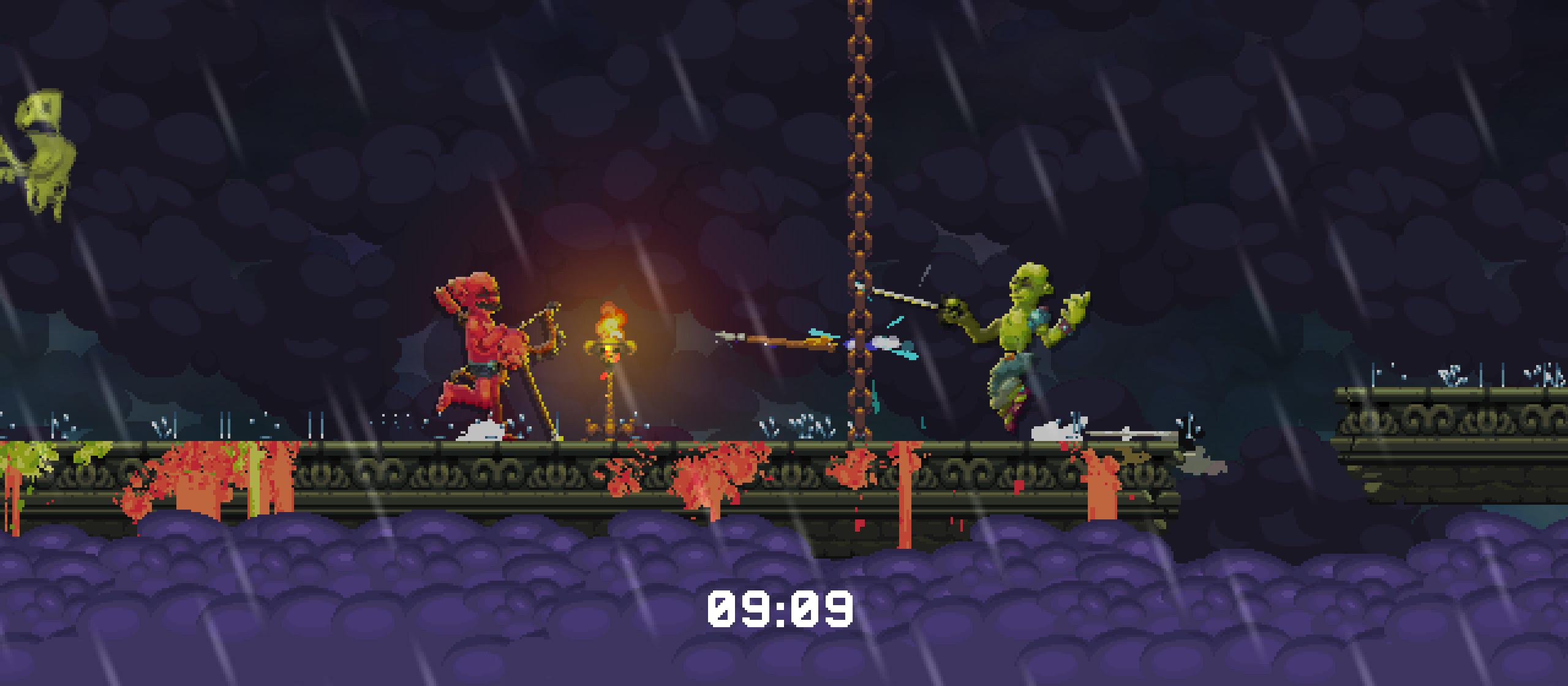 You don't have to be a weird nude Muppet man in Nidhogg 2 screenshot