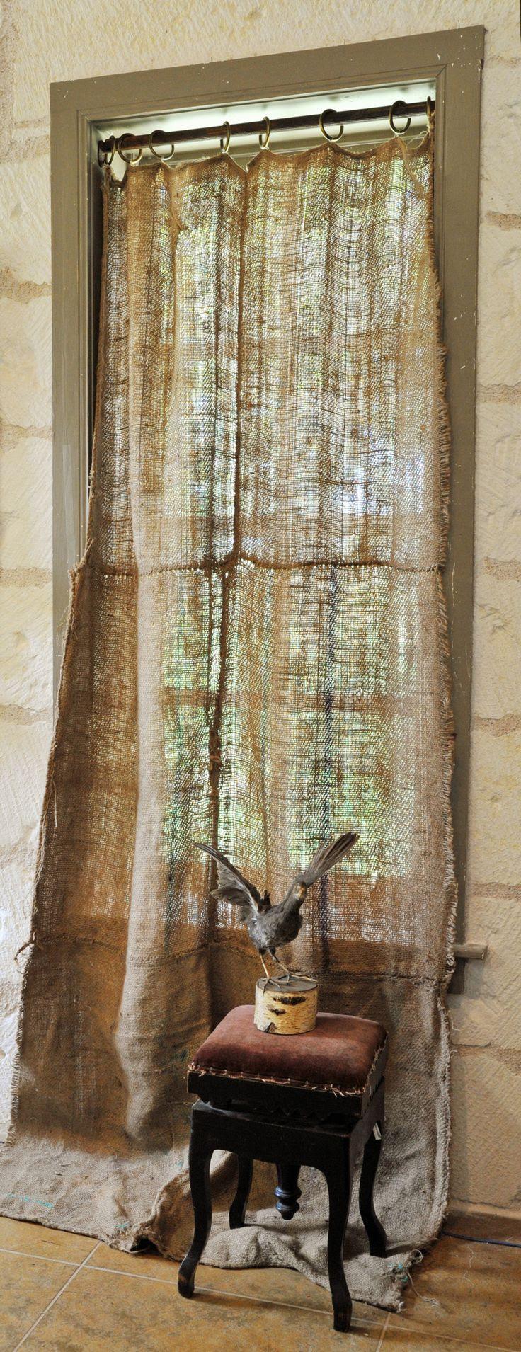 Delicious Burlap Curtains at Carol Hicks Bolton
