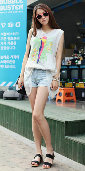 2 phong cách đơn giản với jeans rách, Thời trang, quan jeans rach, quan jeans va, mix do voi quan jean rach