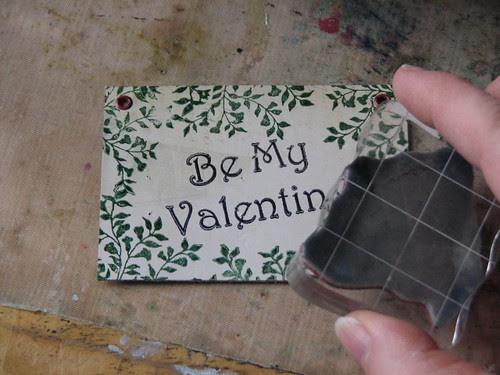Vintage Valentine #3 - Valentine Plaque Card 002