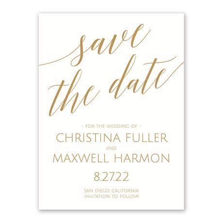 Swept Away White Save the Date   Invitations By Dawn