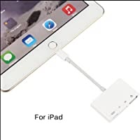 DishyKooker 4 in 1 Lightning to USB Camera Adapter SD/TF Card Reader USB 3.0 OTG Cable